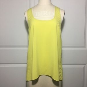 NWT Current Affair Chartreuse High-Low Tank